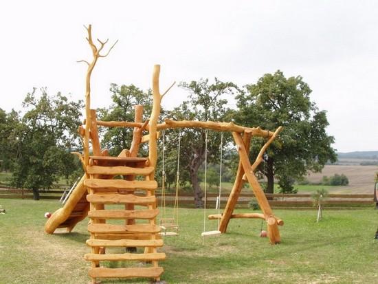 Качели на даче своими руками из дерева