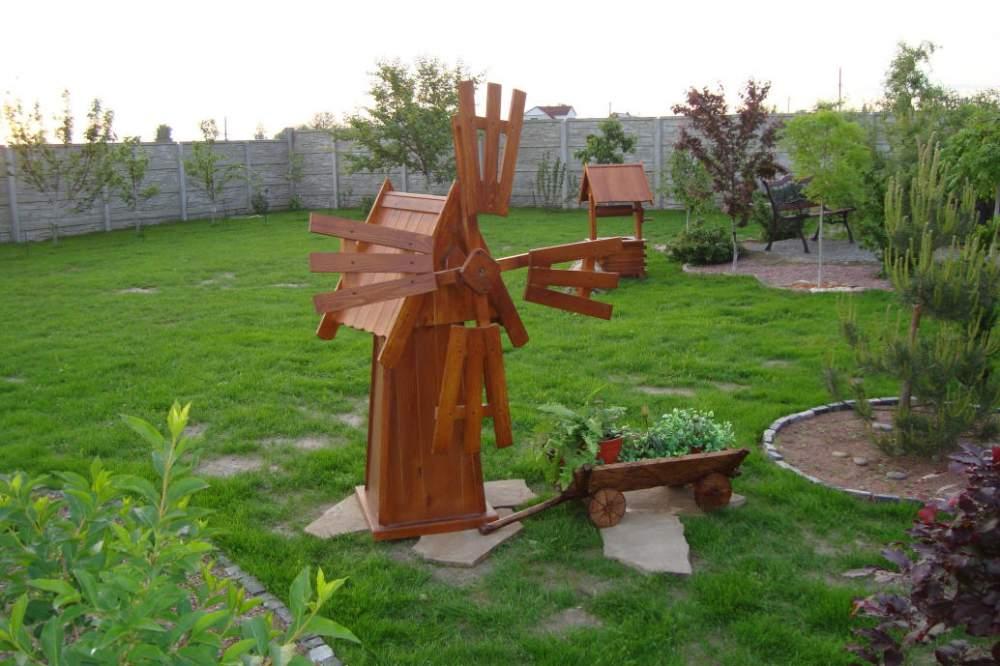 Мельница в саду своими руками