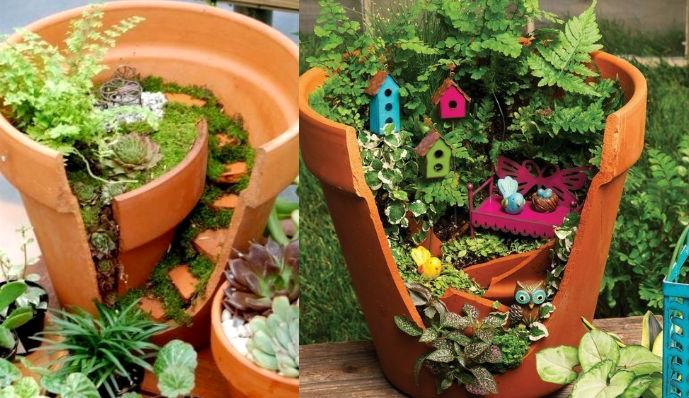 Декоративные поделки для сада фото