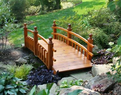 Садовые мостики самостоятельного изготовления
