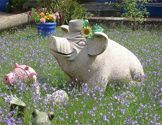 Красивые садовые скульптуры своими руками 187