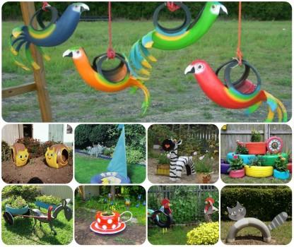 Необычные идеи поделок для огорода
