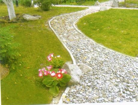 Дорожки в саду из гравия