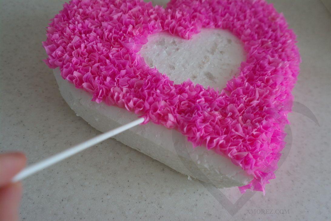 Как сделать сердце из роз своими руками пошаговое фото 91
