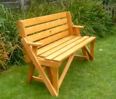 Изготовление простой, но прочной скамейки
