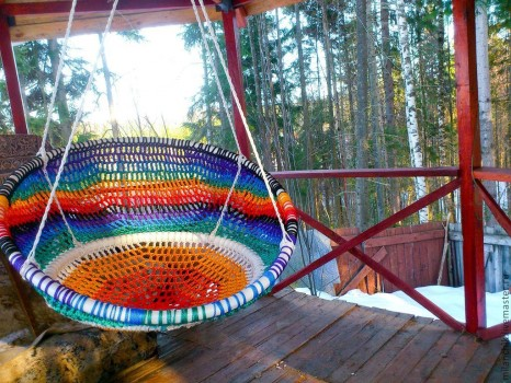 Вязаное кресло-гамак