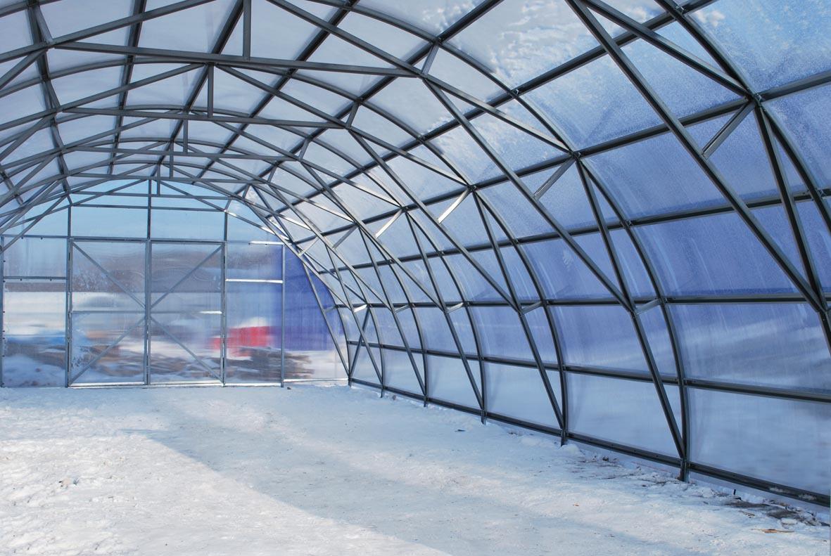 Промышленная зимняя теплица