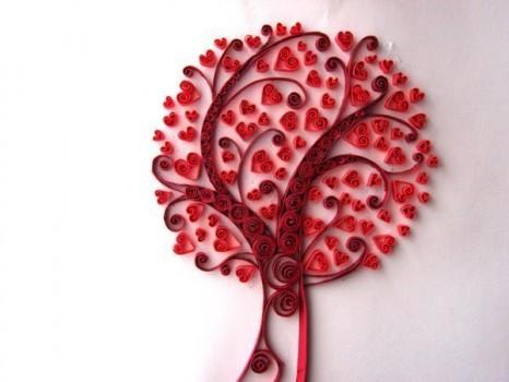 Дерево любви в виде открытки