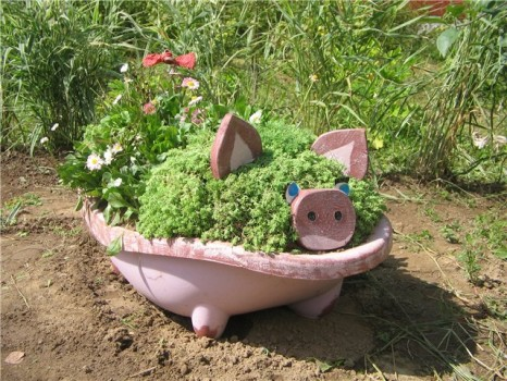 Делаем фигурки для сада самостоятельно