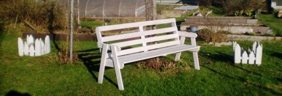 Монтаж садовой скамейки