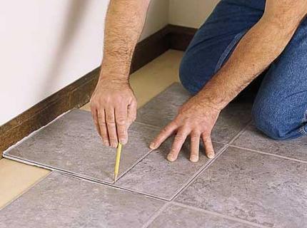 Монтаж обрезанных плиток