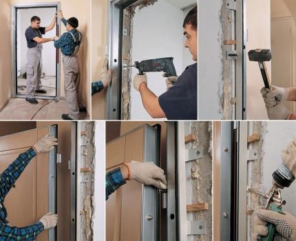 Как установить входные металлические двери своими руками?