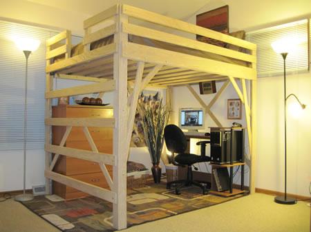 Как сделать кровать под потолком своими руками 94