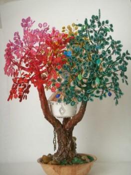 Дерево желаний с бисером
