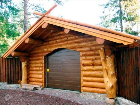 деревянный гараж своими руками?