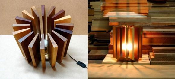 Как сделать деревянные светильники