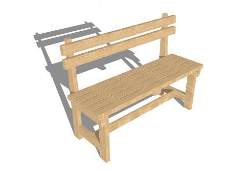 Простейшая скамейка