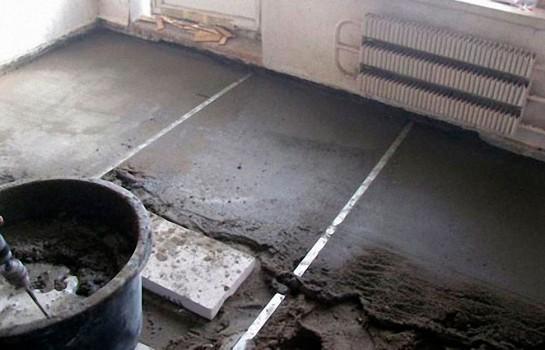 Подготовка основания под теплый пол