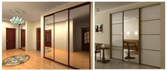 Встроенные шкафы с зеркалами