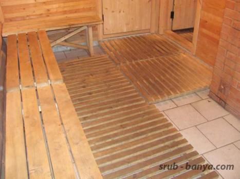 Плитка с деревянным настилом