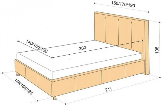 Деталировка кровати