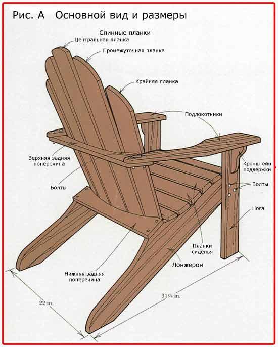 Как сделать стул для дачи своими руками фото